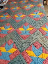 Antique Bountiful Basket Quilt from the 1870's