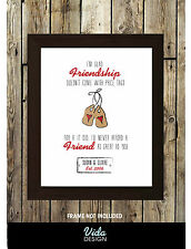 Best friend quote, Friendship quote, Personalised text print A4, Gift