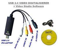 USB Audio Video Grabber Digitalisierung Videoschnitt Konverter Adapter VHS-DVD