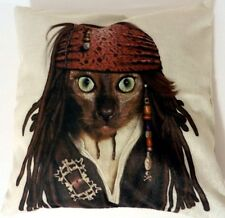 Pirat.Jack Sparrow.Katze.Tiermuster.Kissen.Kissenbezug.Kissenhülle.Dekokissen.