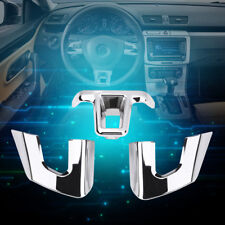 3Pcs Steering Wheel Cover Trims Sticker for VW Jetta Sagitar GOLF 6 Bora Polo BT
