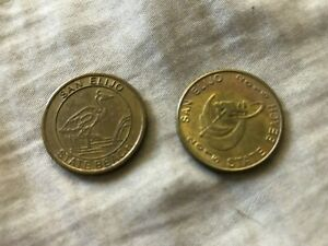 Lot of 2 different San Elijo State Beach California tokens coins 2015 & undated