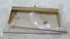 NOS Vintage Pressed Heavy Goldtone Lee Wards Purse Handle/Frame Closure 3 Avail
