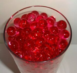 Water Beads ( Red & Pink Mix ) Round Centerpiece Jelly Ball Vase Filler Pearls