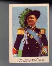 FIGURINA ANTEGUERRA LIBIA GUERRA - GEN. GUSTAVO FARA MEDAGLIA D'ORO LIBIA