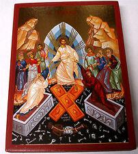 Gesù resurrezione Pasqua icona IKONA Anastasis icoon Resurection Icon Byzantine