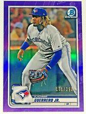 2020 Bowman Chrome Baseball Vladimir Guerrero Jr. Purple Refractor /250 Card #78