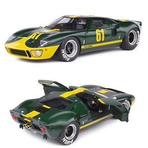 1/18 Solido Ford GT40 MK1 Green Racing Custom 1968 Neuf Livraison Domicile