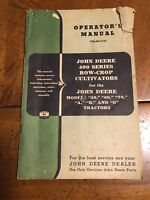 Operators Manual John Deere 400 Series Row Crop Cultivators OM-N9-1154