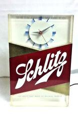 Schlitz lighted clock beer sign blue moon 1959 bar light register topper gd4