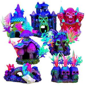 Marina iGlo Ornaments Fantasy Mushroom House Skull Castle Coral Reef Aquarium
