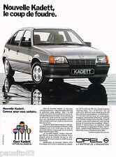 PUBLICITE ADVERTISING 065  1985  OPEL KADETT  la voiture de l'année