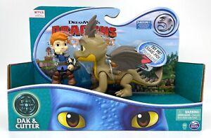 Dragons Rescue Riders DAK & CUTTER Figure Dragon With Sound Dreamworks NEW