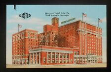1950s Lawrence Hotel Commodore Perry Room Reed Anshutz Erie PA Postcard
