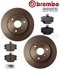 For Smart Fortwo Set of Front Left & Right Disc Brake Rotors & Brake Pad Set