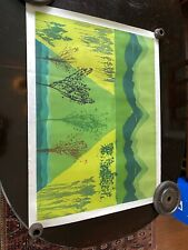 "John Patrick Garufi (American) Abstract Etching "" Emerald Equinox ""28 by 37 inch"