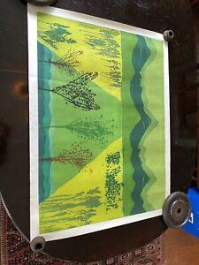 "John Patrick Garufi (American) Abstract Etching "" Emerald Equinox ""28 by 37 inch"