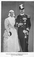 POSTCARD    ROYALTY   NETHERLANDS  The  Queen  and  Prince  Hendrik
