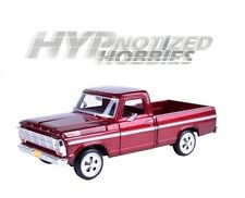 MOTORMAX 1:24 1969 FORD F-100 PICKUP DIE-CAST BURGUNDY 79315