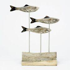 ARCHIPELAGO Hand Carved Wooden Fish - Triple Herring Block