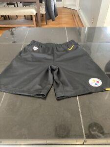 BOYS YOUTH PITTSBURGH STEELERS Dri-fit Athletic Shorts NIKE NFL M MEDIUM NEW
