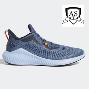 adidas Alphabounce+  Mens Running Sneakers Shoes Size 10 Blue F33907 New
