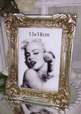 Bilderrahmen Rahmen Bild Cottage Vintage Shabby Chic Antik Gold 18x23 cm