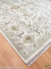 Oushak Area Rug Hand Knotted Persian Woolen Rug 8x10 Ivory / Ivory RH53004 $3999
