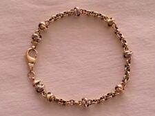 Echt Gold-Damen Armkette, Armband 585er Gelb-Gold (Gewicht: ca. 11,47 Gramm)