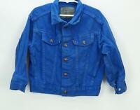 Vintage Levi's Denim Jean Jacket Blue Kids Size 5 Made in USA Orange Tag