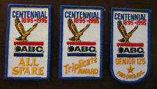 ABC American Bowling Congress Centennial 100th Anniversary Patches (3 Different)