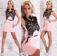* ° * * Mini-robe sexy robe de soiree avec dentelle noble G L 38/40 ROBE DE FETE Business * ° *