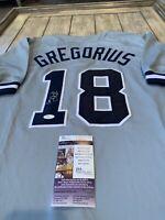 Didi Gregorius Autographed/Signed Jersey JSA COA New York Yankees