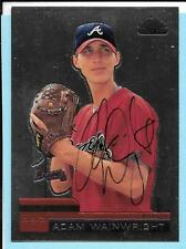 2000 Topps Chrome Traded Adam Wainwright Rookie Autograph Braves with COA