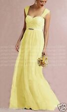 chiffon& lace Floor Length Party Prom Bridesmaid Dresses Evening Dress Size 6-18