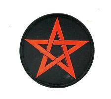 Patch patches embroidered iron on backpack biker satanic pentagram 666 satan
