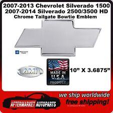 07-14 Silverado 2500/3500 HD Chrome Aluminum Bowtie Tailgate Emblem AMI 96095C