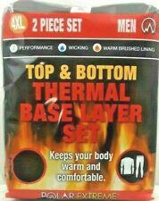 Thermal Base Layer Polar Extreme Men's 4XL Top & Bottom Wicking Big & Tall Black