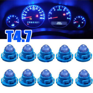 10x Blue T4.7 1-SMD Wedge LED Bulbs Car Instrument Panel Light Dash Lamp Climate