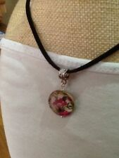 flower Mother of Pearl Costume Necklaces & Pendants