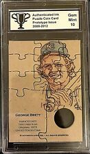 George Brett Puzzle Coin Prototype Card Graded 10 Only 25 Made KC Royals