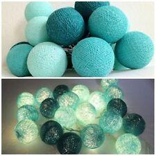String Light Cotton Ball Turquoise Patio,Fairy,Home,Garden,Wedding Party New