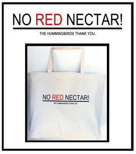 Hummingbird / No Red Nectar Tote Bags in Assorted Designs
