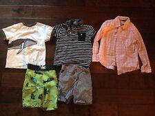 (5) GYMBOREE BOYS CLOTHING SHIRTS SIZES 3,4,5,6, WORN ONCE