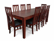 Dark Wood Tone Dining Set