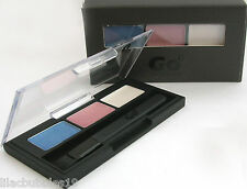 GO COSMETICS GEL EYELINER/EYE SHADOW TRIO BLUE/PINK/WHITE SHIMMERY NEW BOXED