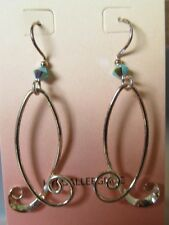 Jody Coyote Earrings JC44 New hypoallergenic silver dangle beaded Made USA