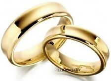 10K YELLOW GOLD HIS & HERS MATCHING WEDDING BANDS RINGS SHINY FINISH