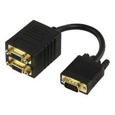 Câble répartiteur Y VGA - 2x VGA plaqué or 0.15 m  1 Mâle / x2 Femelle