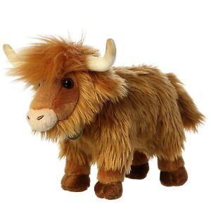 "TheMogan 10"" Highland Cattle Cow Plush Stuffed Safari Jungle Zoo Animal Toy Brow"
